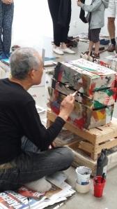 Horio gör porträtt